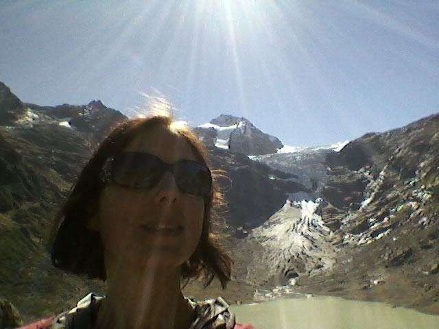 Lisette in front of Triftgletscher